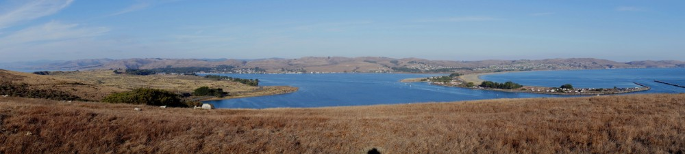 "Panorama Photo of Bodega Bay (remember Hitchcock's ""The Birds""?)"