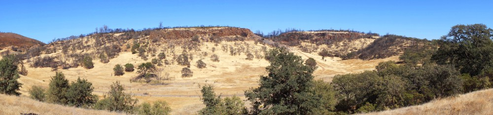 Panorama of rolling hills, inland from Santa Rosa